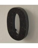 belgisch hardsteen huisnummer nr. 0 12cm hoog
