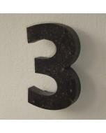 belgisch hardsteen huisnummer nr. 3 12cm hoog