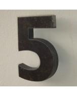 belgisch hardsteen huisnummer nr. 5 12cm hoog