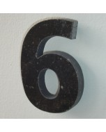 belgisch hardsteen huisnummer nr. 6 12cm hoog