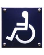 5304 emaille pictogram invaliden toilet 10x10cm PG-04