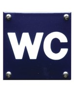 emaille pictogram wc 10x10cm PG-05