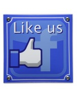 emaille horecabord like us on Facebook MS-05