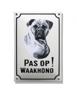 Emaille waakhond bord Boxer WH-01