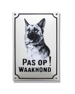 Emaille waakhond bord Herdershond WH-05