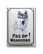 Emaille waakhond bord Husky WH-07
