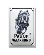 Emaille waakhond bord Mastif WH-08
