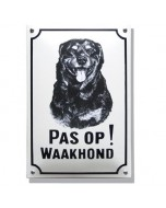 Emaille waakhond bord Rottweiler WH-09