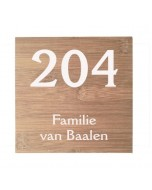 bamboe naambord 17,5x17,5cm