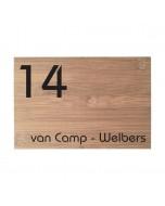 bamboe naambord 22,5x15cm