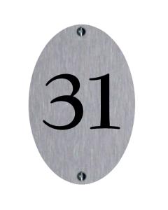 rvs huisnummerbordje 10x15cm