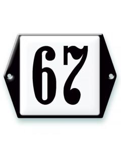 emaille-look huisnummer 13,5x10cm