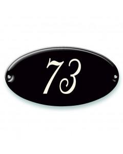 emaille-look huisnummer ovaal 19,5x10,5cm