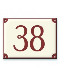 emaille-look huisnummer 20x15cm
