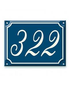 emaille-look huisnummer + kader 20x15cm