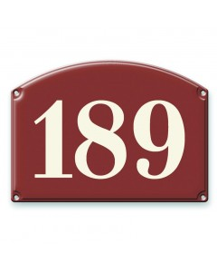 emaille-look huisnummer 25x18cm