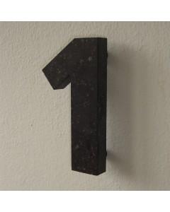 belgisch hardsteen huisnummer nr. 1 12cm hoog