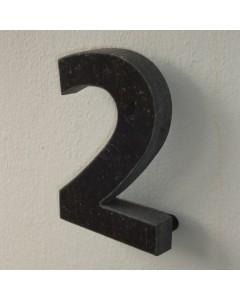 belgisch hardsteen huisnummer nr. 2 12cm hoog