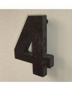 belgisch hardsteen huisnummer nr. 4 12cm hoog