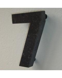 belgisch hardsteen huisnummer nr. 7 12cm hoog