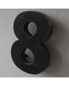 belgisch hardsteen huisnummer nr. 8 12cm hoog