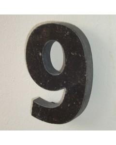 belgisch hardsteen huisnummer nr. 9 12cm hoog