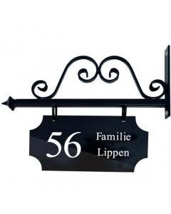 nostalgisch uithangbord Amsterdam + krul 45x35cm