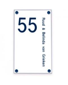 transparant perspex naambord 15x25cm