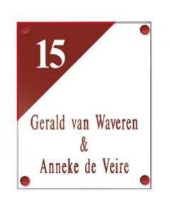 perspex transparant naambord voorzien van gravure + vinyl 20x16cm