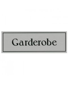 aanduidingsbordje kunststof 15x5cm Garderobe