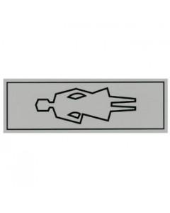 aanduidingsbordje kunststof 15x5cm (dames toilet)