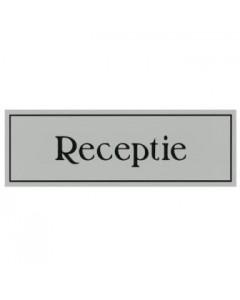 aanduidingsbordje kunststof 15x5cm Receptie