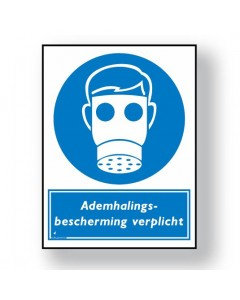 gebodsbord ademhalingsbescherming verplicht DGE13