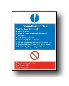 gebodsbord brandinstructies DGE33