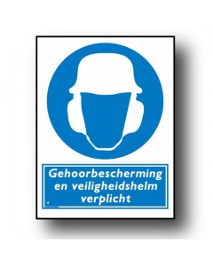 gebodsbord gehoorbescherming veiligheidshelm DGE45