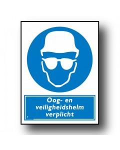 gebodsbord oogbescherming en veiligheidshelm DGE46