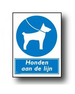 gebodsbord honden aan de lijn DGE48