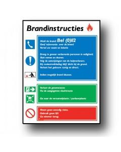 gebodsbord brandinstructies DGE51