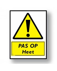 waarschuwingsbord pas op heet DWA01