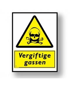 waarschuwingsbord vergiftige gassen DWA04
