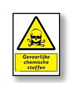 waarschuwingsbord chemische stoffen DWA05