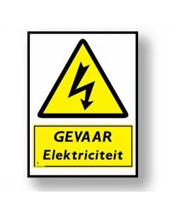 waarschuwingsbord gevaar elektriciteit DWA14