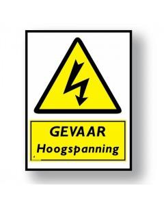 waarschuwingsbord gevaar hoogspanning DWA15