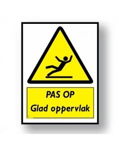 waarschuwingsbord glad oppervlak DWA22
