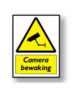 waarschuwingsbord camera bewaking DWA24