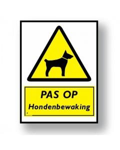 2631 waarschuwingsbord hondenbewaking DWA31