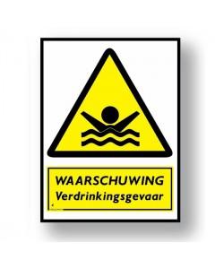 waarschuwingsbord verdrinkingsgevaar DWA32