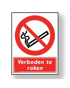 verbodsbord verboden te roken DRO01
