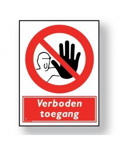verbodsbord verboden toegang DRO03