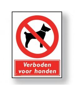 verbodsbord verboden voor honden DRO11